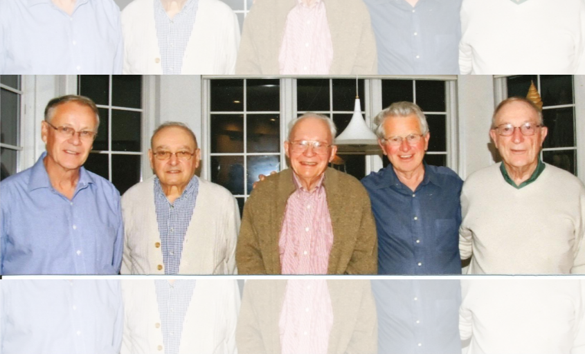 From left are Dag Reppen, Paul De Mello, Robert Ringlee, Dale Hedman and Lionel Barthold.