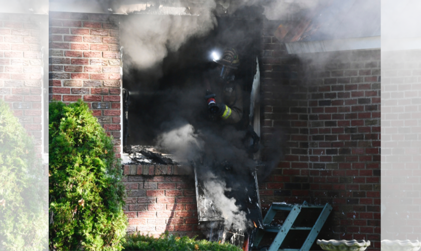 Rotterdam District 2 firefighters battle the blaze at 2149 Van Wormer Road Thursday