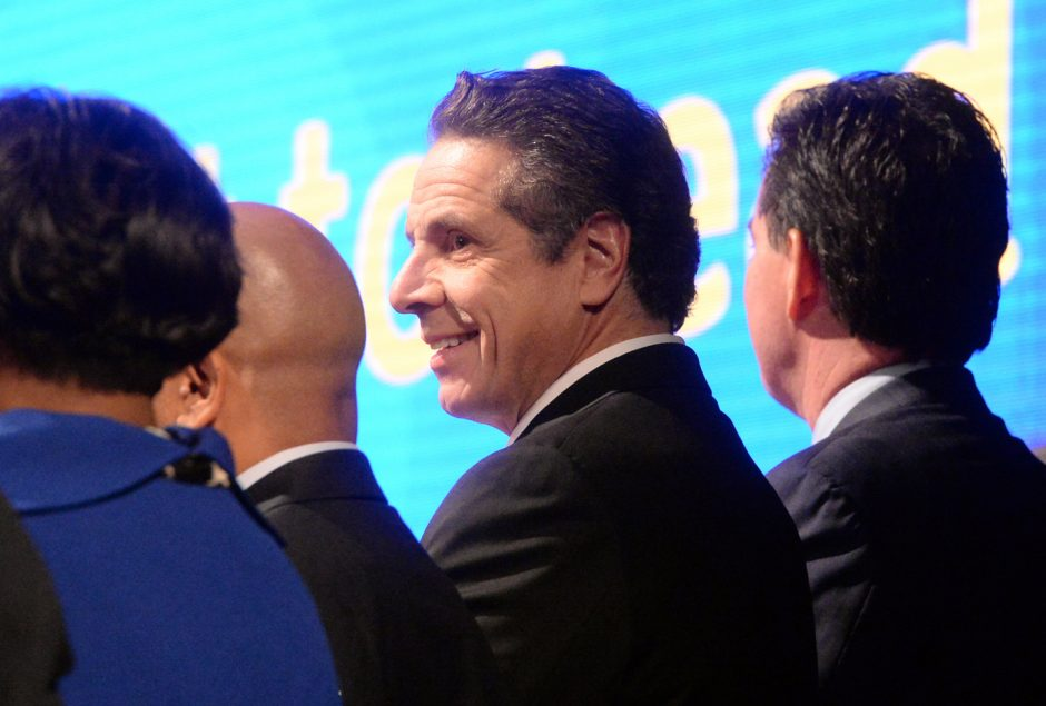 Gov. Andrew Cuomo before his State of the State address in the Empire State Plaza Convention Center in 2016.