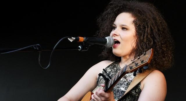 Moriah Formica performs on the theater stage at Clifton Common Sunday evening.