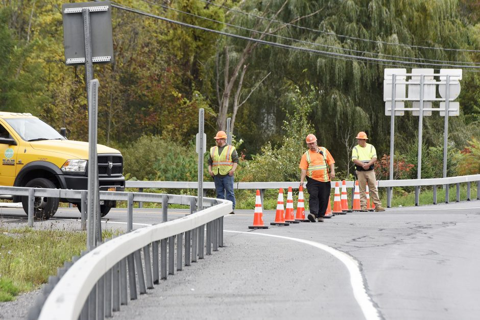 The accident intersection at Route 30 and Route 30A in Schoharie, October 8, 2018.