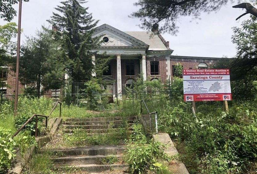 The former Saratoga County infirmary is shown in a recent photo.