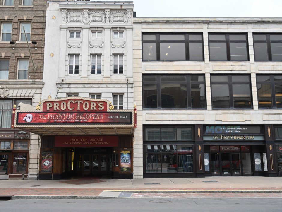 'Hamilton' is currently playing at Proctors, pictured.