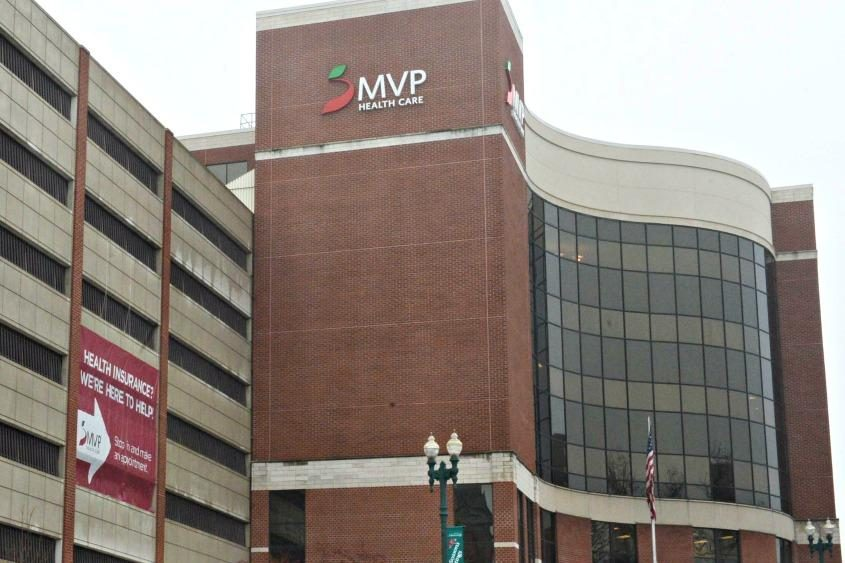 The MVP building on State Street in Schenectady is pictured.
