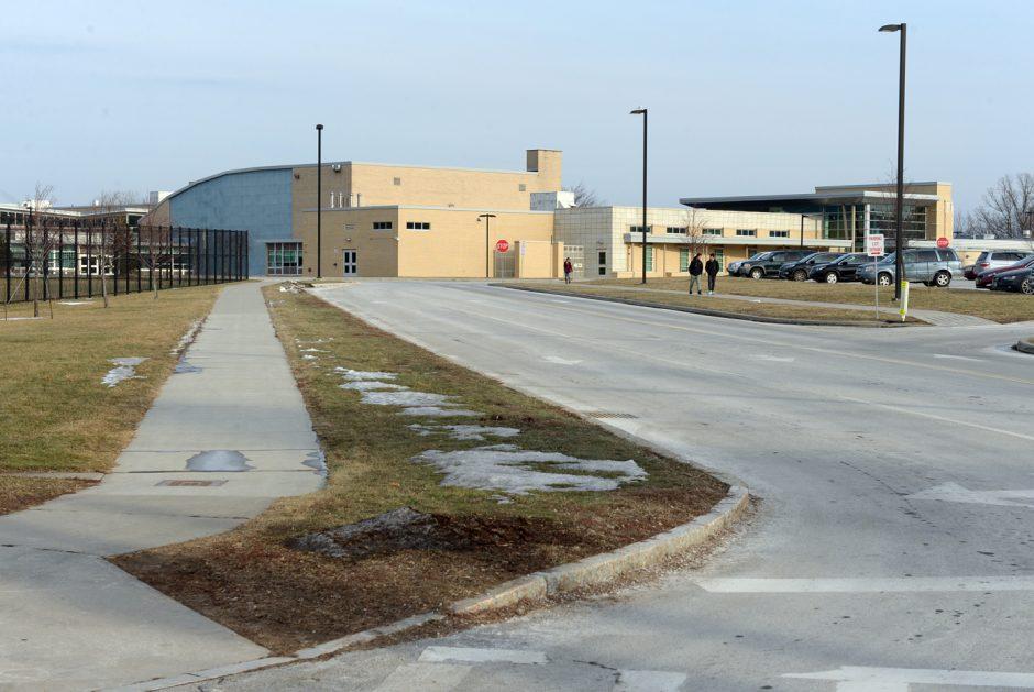 The exterior of Niskayuna High School is shown.