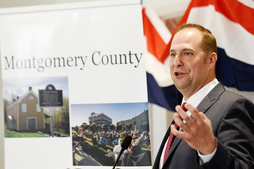 Montgomery County Executive Matt Ossenfort gives the State of the County address earlier this year.