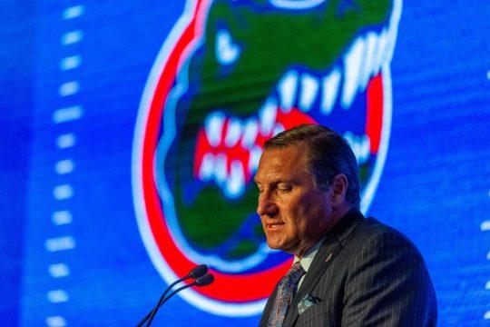 Florida head coach Dan Mullen and his Gators open the season Saturday night against Miami.