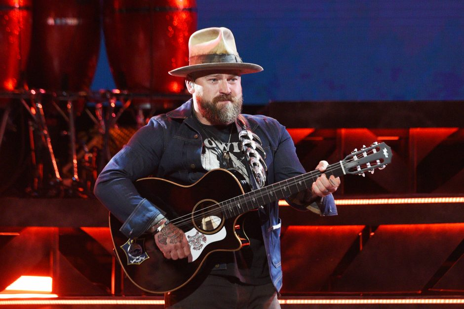Zac Brown performs with his band Friday night at Saratoga Performing Arts Center