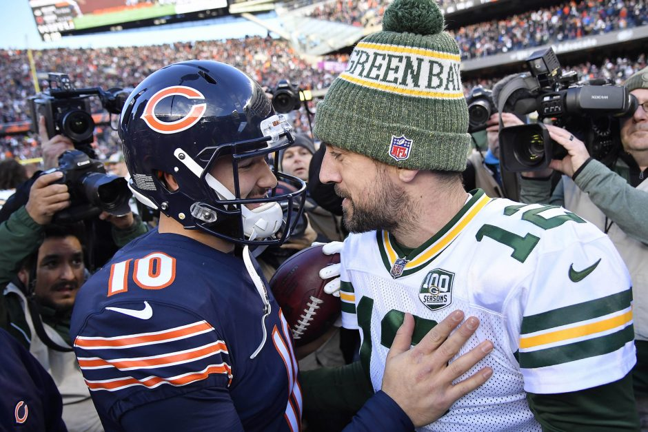 Mitch Trubisky and Aaron Rodgers will meet Thursday when the Chicago Bears host the Green Bay Packers in the NFL season opener.
