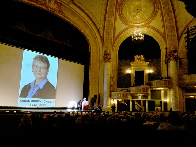 Proctors MainStage served as the setting for a celebration of Karen Johnson's life on Thursday afternoon.