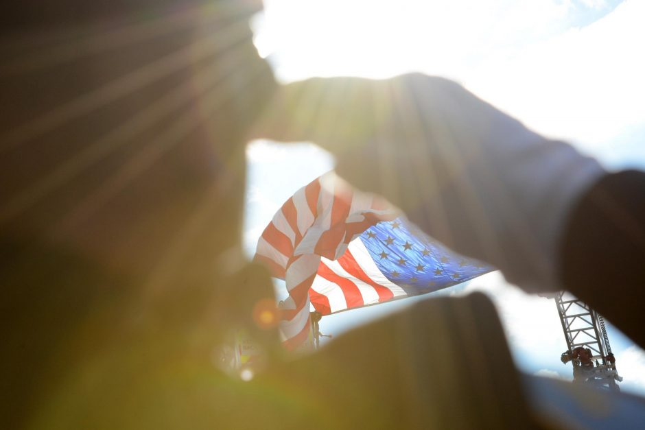 From a 9/11 memorial service at Glenville's Water's Edge Lighthouse in 2014.