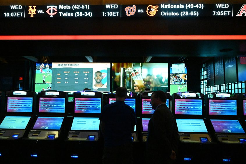 The new Sportsbook at Rivers Casino & Resort in Schenectady is shown July 16, 2019.