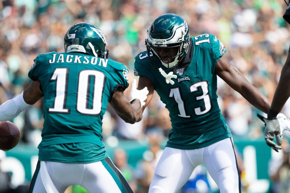 The Eagles celebrated a victory over the Redskins last Sunday and Ken Schott's good start with his NFL picks.