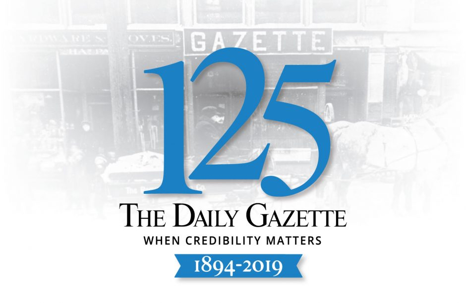 The Daily Gazette celebrates its 125th year serving local communities.