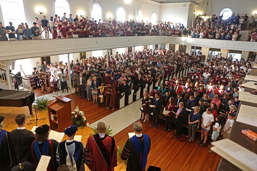 The Union College convocation on Tuesday, Sept. 10, 2019.