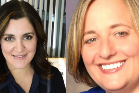 Incumbent Supervisor Yasmine Syed, left, and challenger Lisa Weber, right