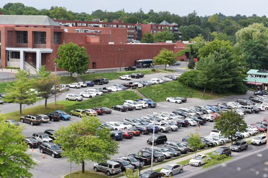 A parking garage will be built on this lot on High Rock Avenue in Saratoga Springs.