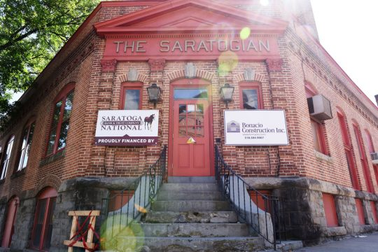 Construction continues at the new Walt & Whitman Beer Hall and Coffee House in Saratoga Springs.