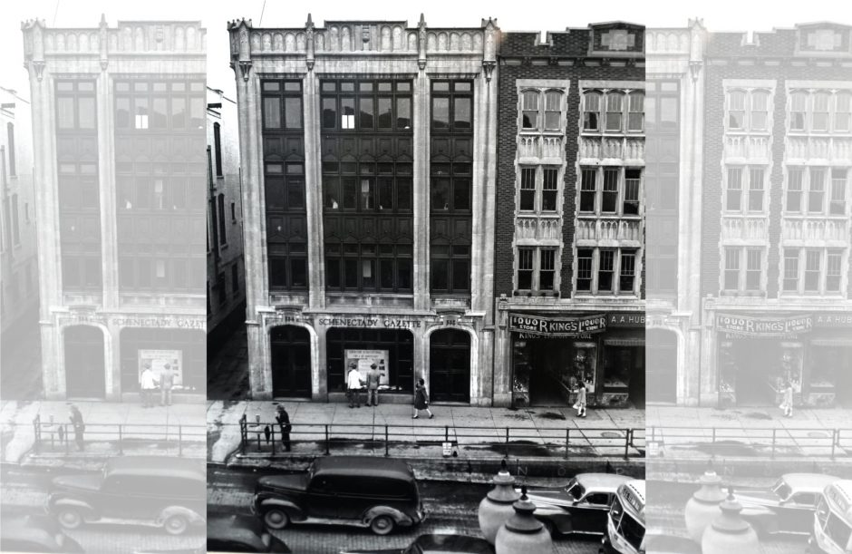 The Gazette's former headquarters at 332 State St. in downtown Schenectady is shown in the 1940s.