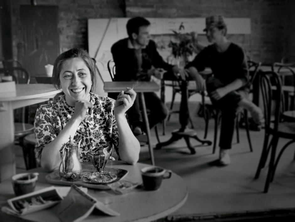 Lena Spencer smiles inside Caffe Lena in an undated photo.