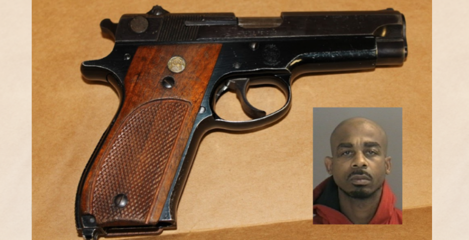 Earl Pittman and the handgun police say he illegally possessed