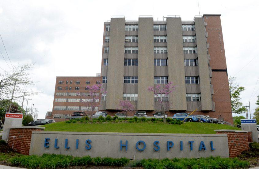 Ellis Hospital in Schenectady is pictured.