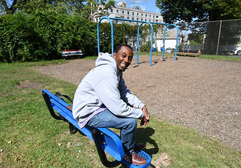 Tyrell Outlaw hopes to win a grant to improve his neighborhood park.