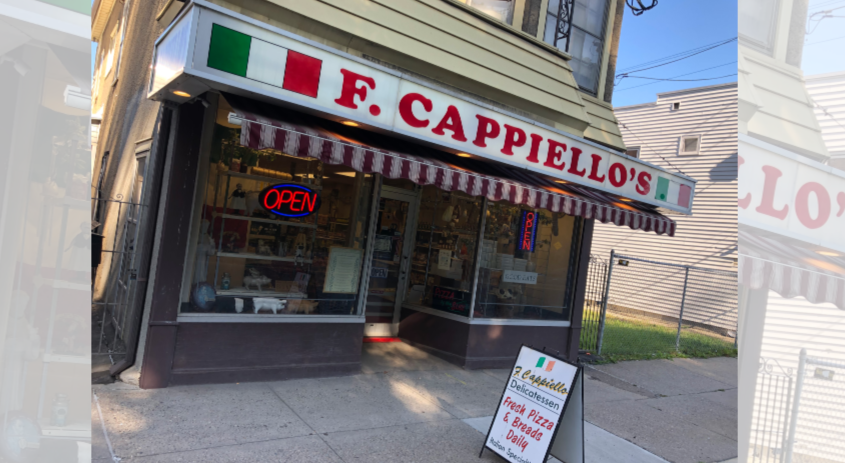 Cappiello's with its open sights lit Thursday morning