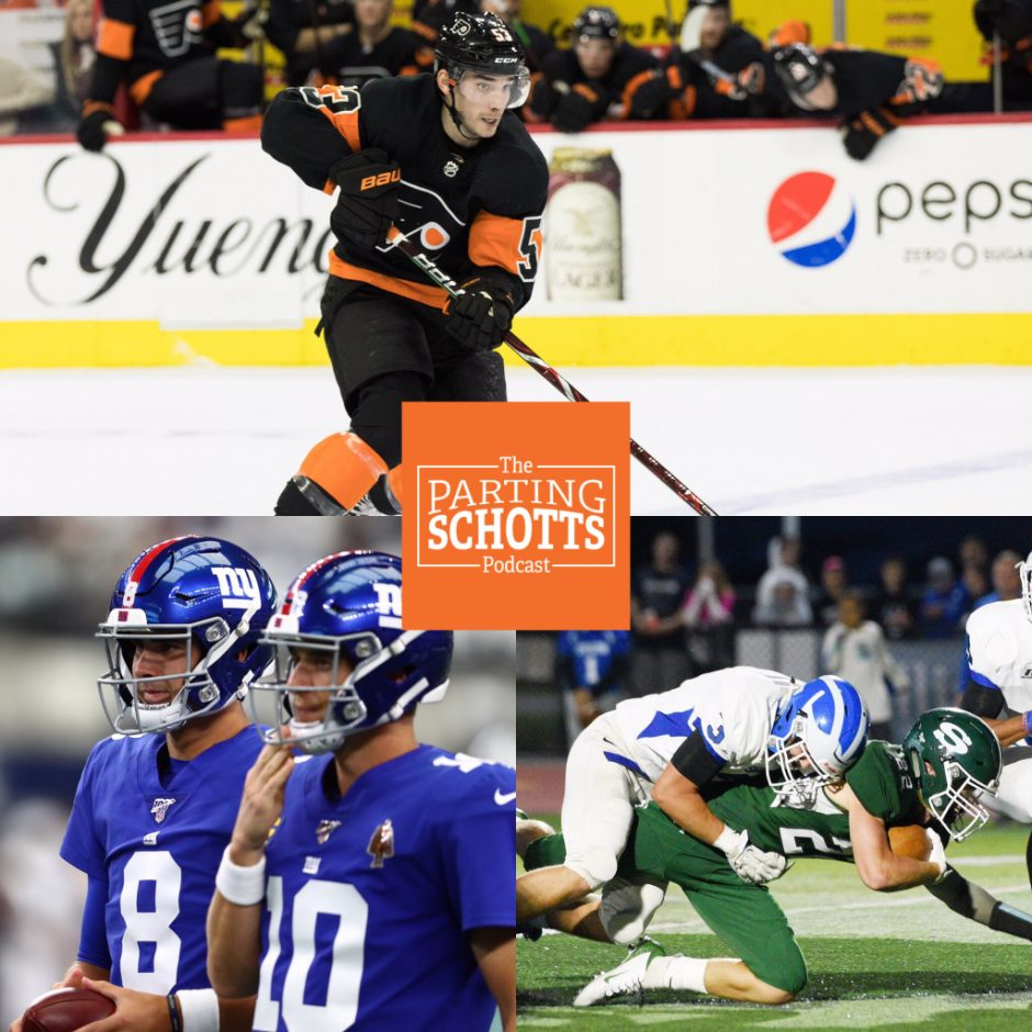 Shayne Gostisbehere, the Giants' QB situation and high school football are this week's topics.