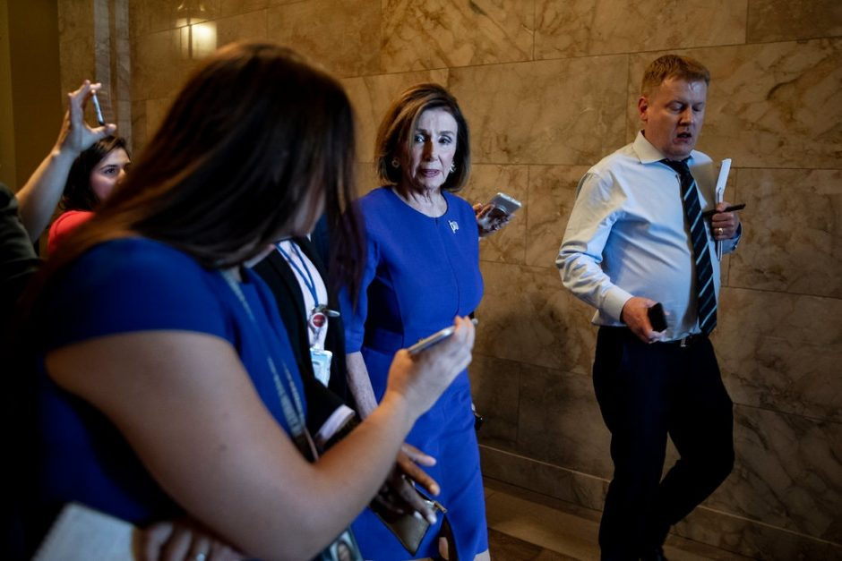 Speaker Nancy Pelosi planned a meeting Tuesday to discuss strategies with the six committee leaders investigating Trump.