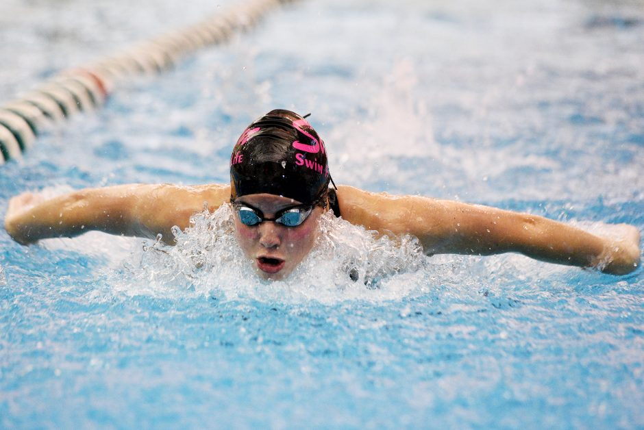 Shenendehowa's Alison Sposili competes finished third in the 200 yard IM during the Shenendehowa Invitational Saturday.