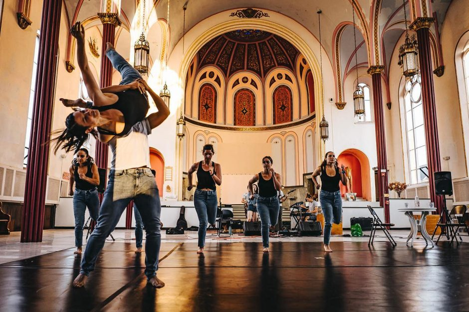"""Dancers rehearse at Troy Church for """"Capital Records Live! Dark Blue Sea"""" at the GE Theatre at Proctors."""