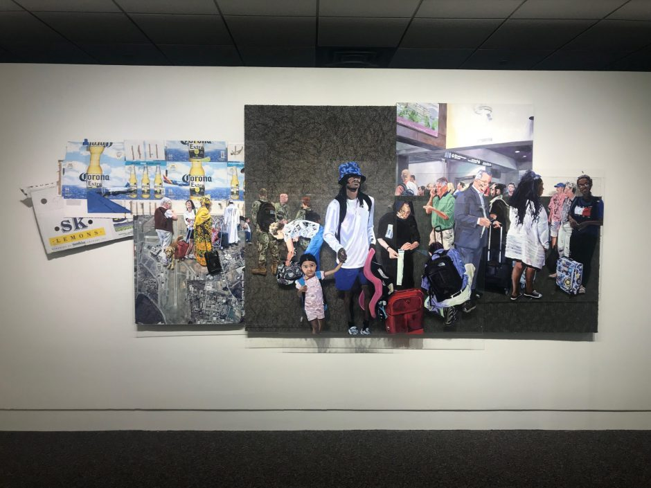 """Terminal Moment"" by Tasha Depp is part of the ""Patterns of Engagement"" exhibit."