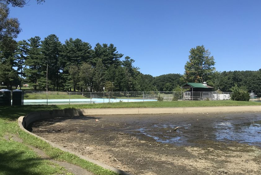 Iroquois Lake in Schenectady's Central Park was drained this summer for maintenance.