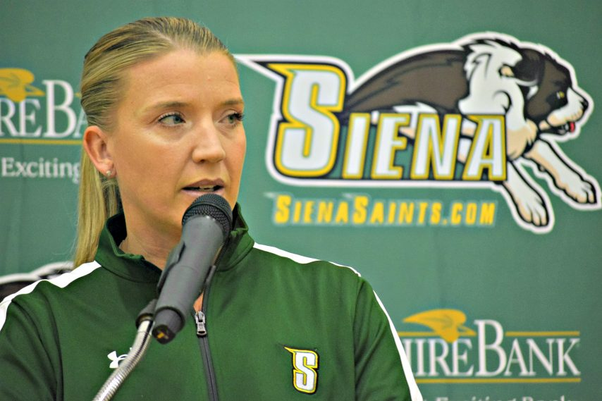 Ali Jaques speaks at Friday's media day.