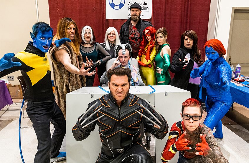 Cosplay characters pose for a photo at a past comic con. Many will be back for this year's event at the Saratoga City Center.