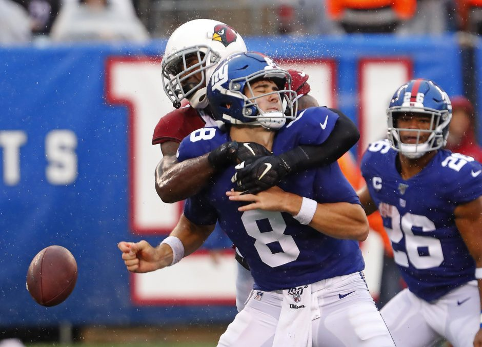 The New York Giants face the Detroit Lions on Sunday.