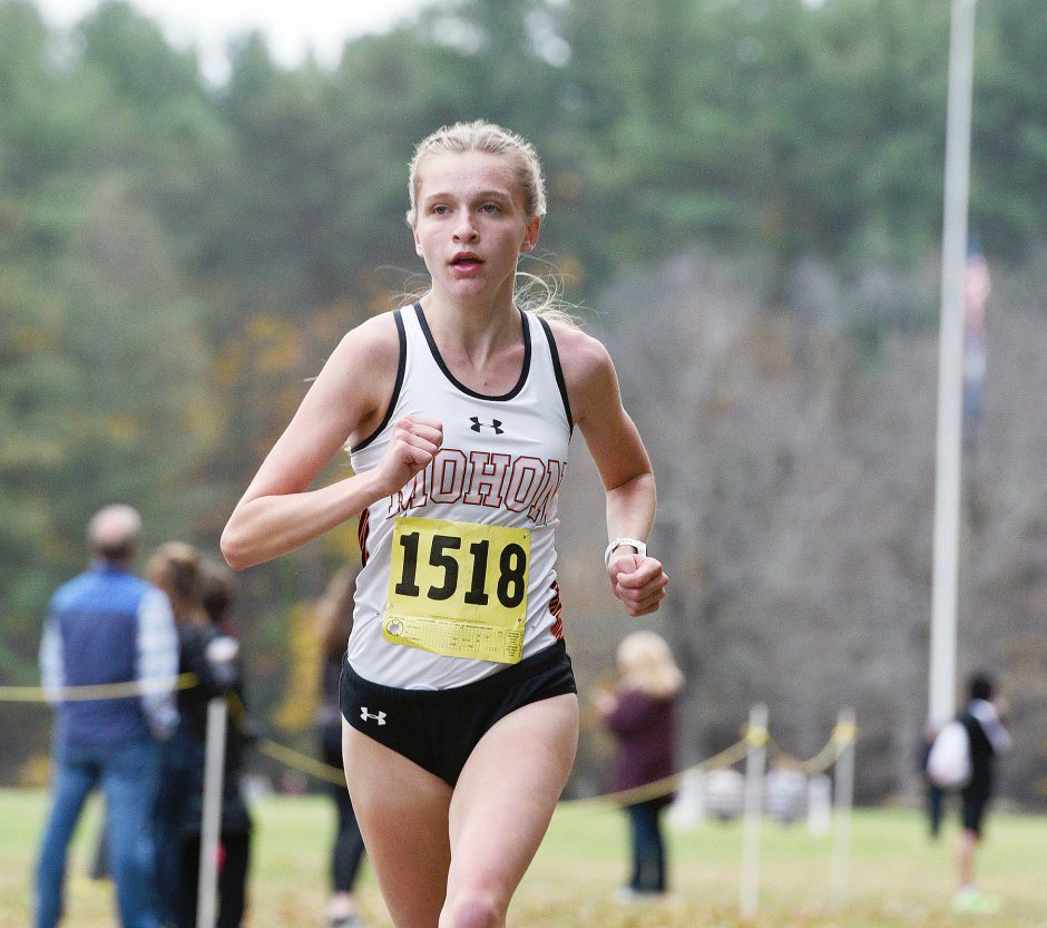 Mohonasen's Kate Sherman won the girls' Colonial Council cross country title Friday