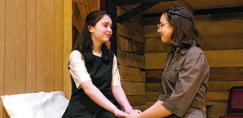 """Krista Rivers, left, is Anne Frank and Caroline Jameson is her sister in the CTG production of """"The Diary of Anne Frank."""""""
