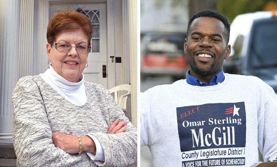 Peggy King, left, and Omar Sterling McGill.
