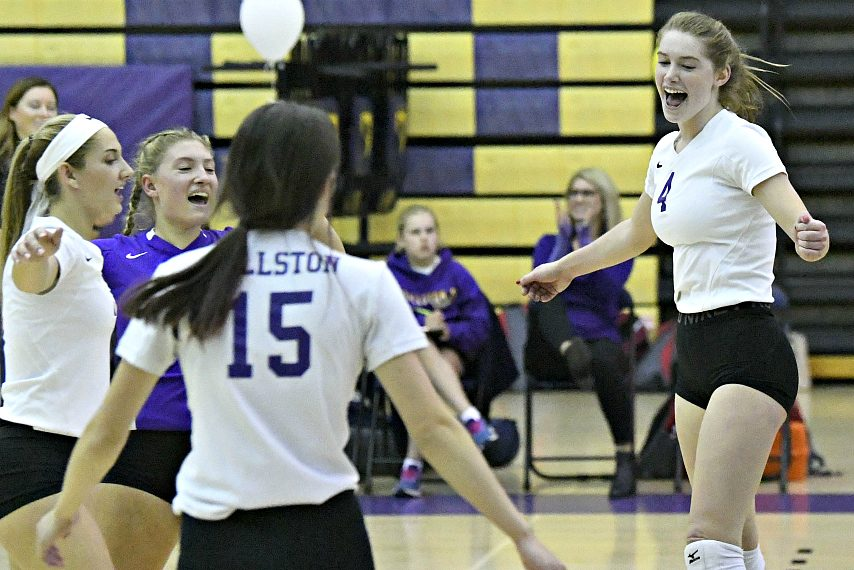 Members of the Ballston Spa girls' volleyball team are shown in a match earlier this season.