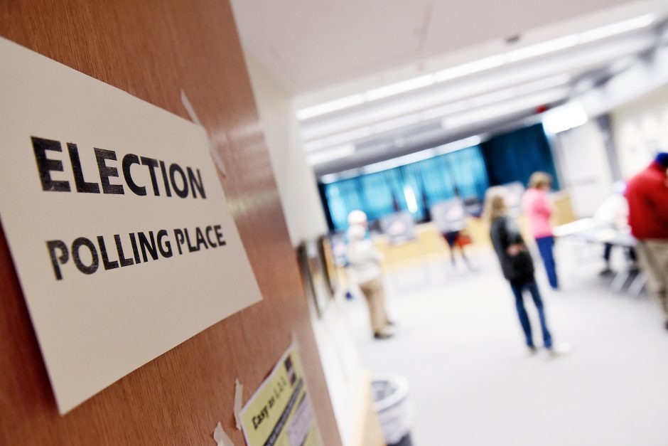 Voters cast their ballots during the first early elections at Niskayuna Town Hall in Niskayuna on Saturday, October 26, 2019.