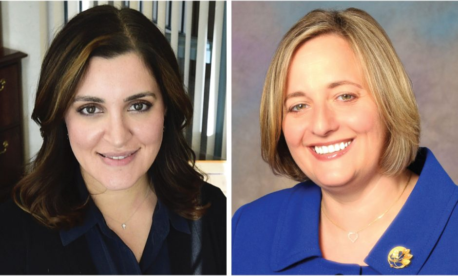 Yasmine Syed, right, and Lisa Weber
