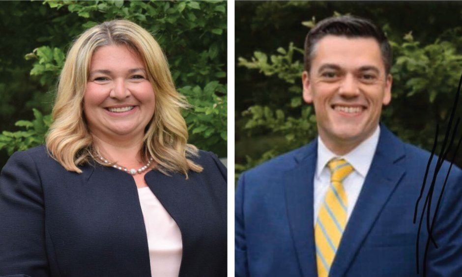 Town Councilwoman Amy Standaert and town Councilman James Whalen.
