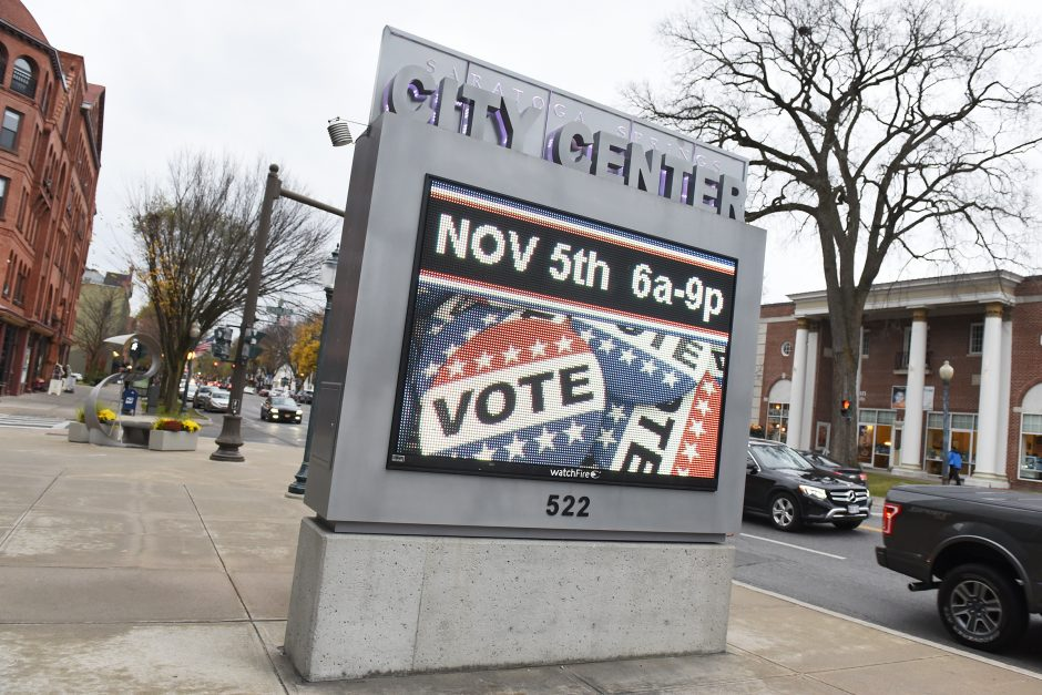 Election Day at Saratoga Springs City Center in Saratoga Springs on Tuesday, November 5, 2019.