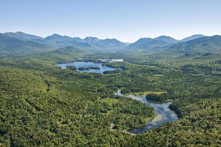 The Boreas Ponds tract in the Adirondack High Peaks region is pictured.