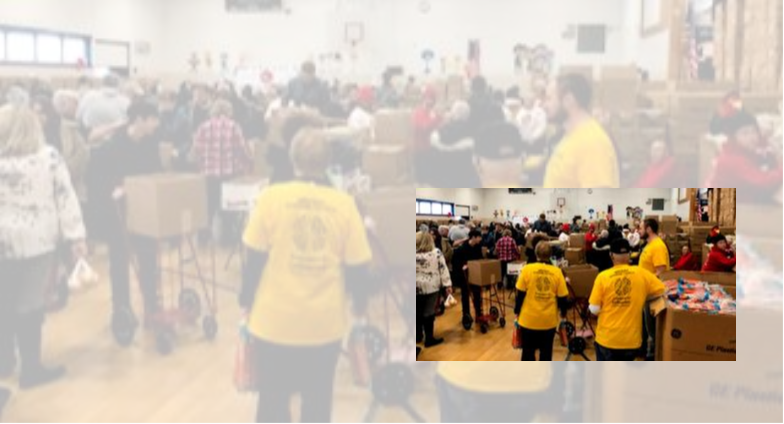 Concerned for the Hungry volunteers assemble at Keane Elementary School in Schenectady for the 2018 Thanksgiving project.