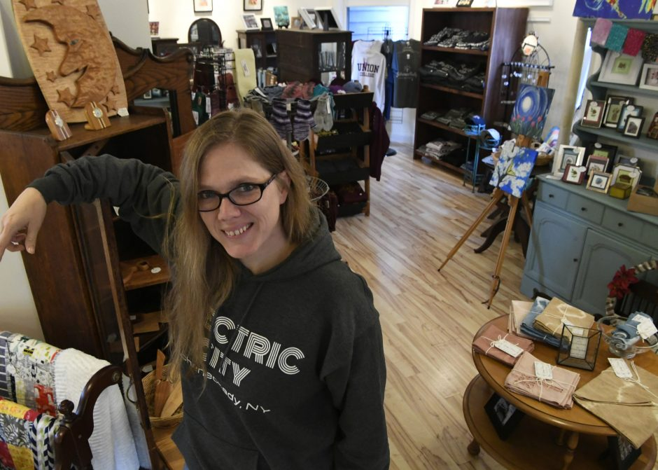Caroline Bardwell, owner of the Schenectady Trading Company at 609 Union St.