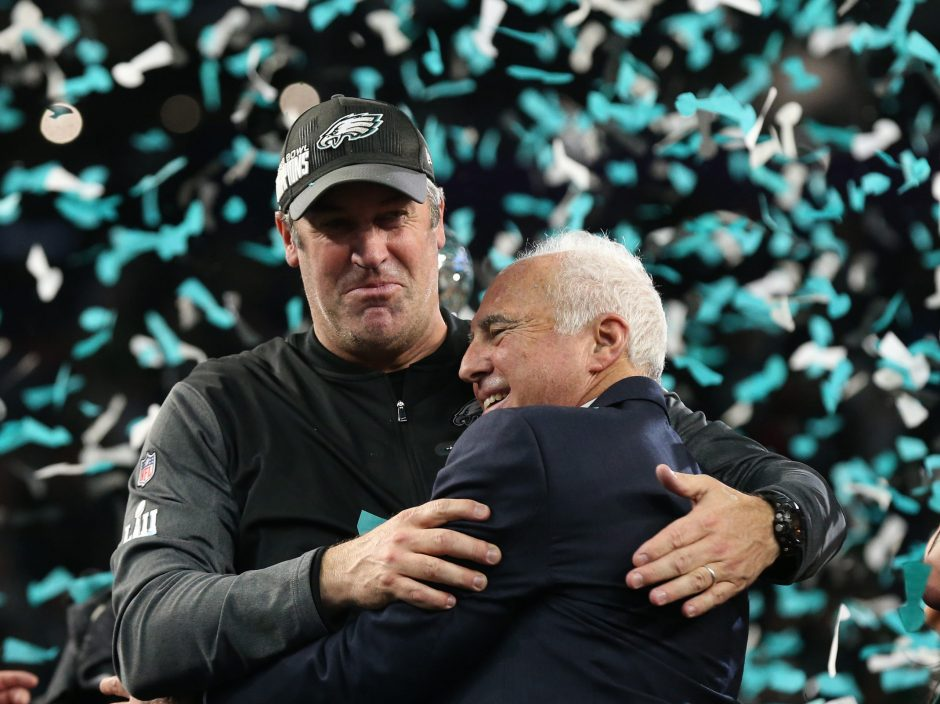The last time the Eagles and Patriots met in a meaningful game, it was the Eagles celebrating a Super Bowl LII win.