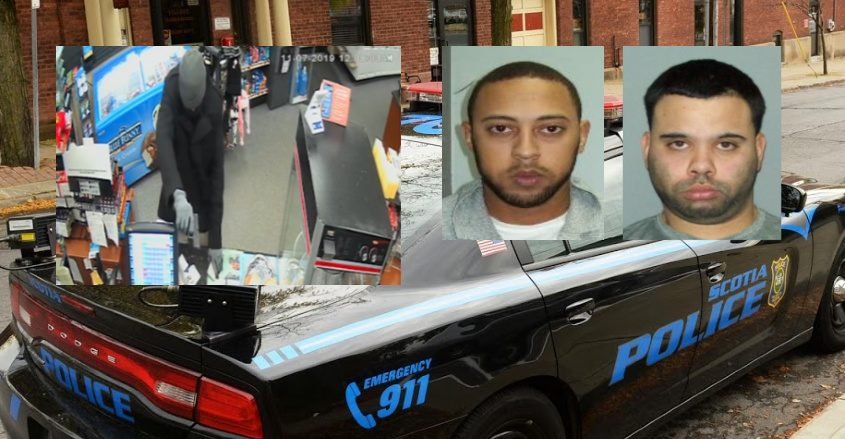 A still photo of the robbery; Christopher I. Rodriguez, and Hector J. Cordero